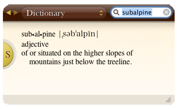 definition of subalpine